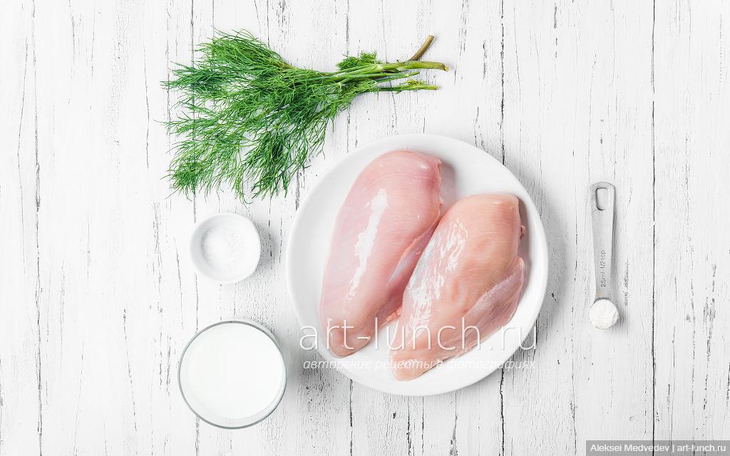 курица в сливках