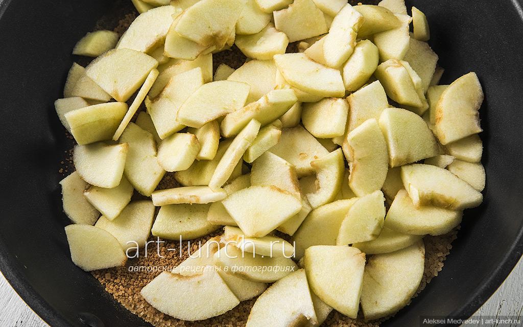Яблочный крамбл
