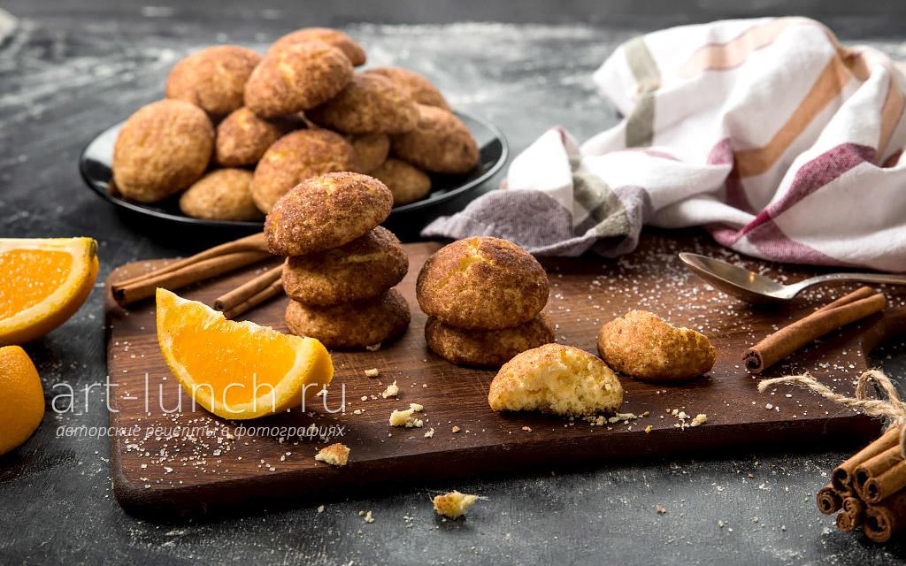 Печенье с апельсиновой цедрой и корицей - пошаговый рецепт с фото