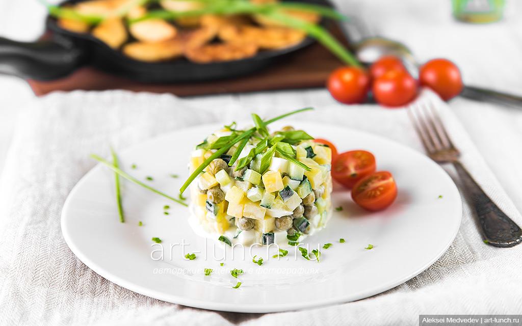 Салат с картофелем и свежим огурцом