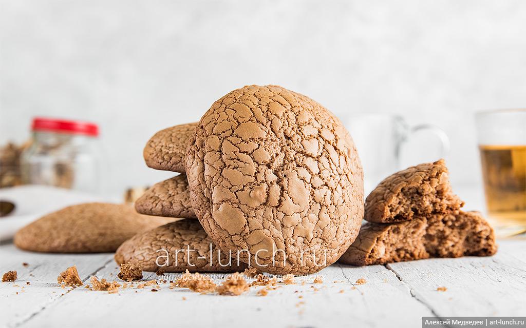 Печенье с шоколадкой