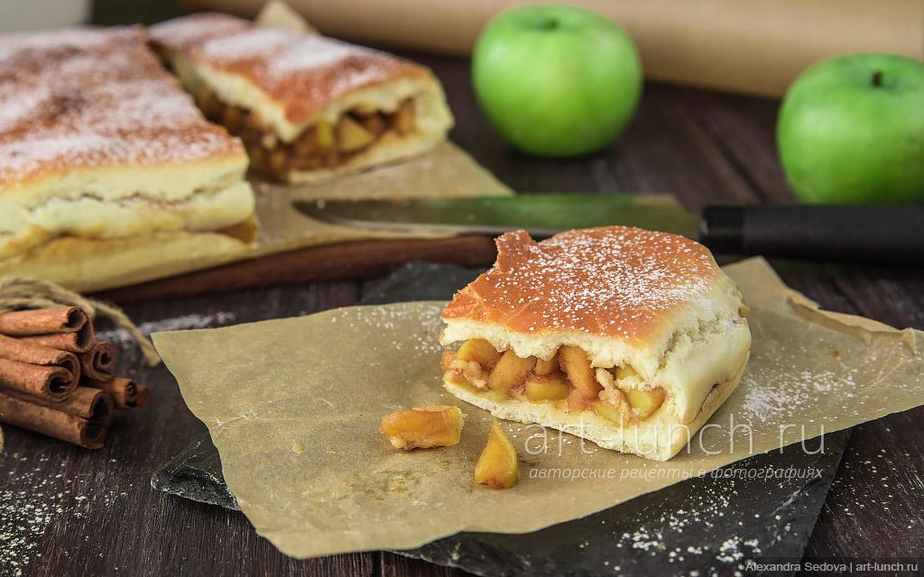 Пирог с яблоками и корицей - пошаговый рецепт с фото
