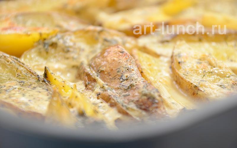 Картофель запечённый в сливках