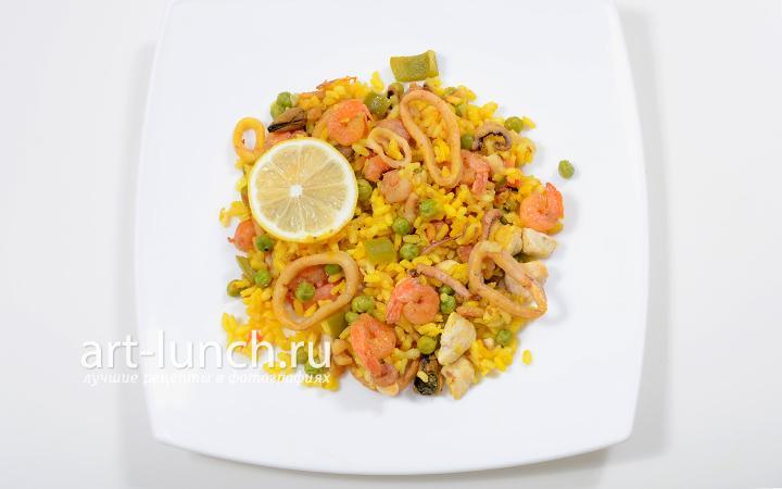 Паэлья-пошаговый рецепт с фото