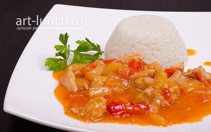 Курица в кисло-сладком соусе - рецепт с фото