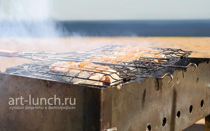 Форель на углях - рецепт с фото