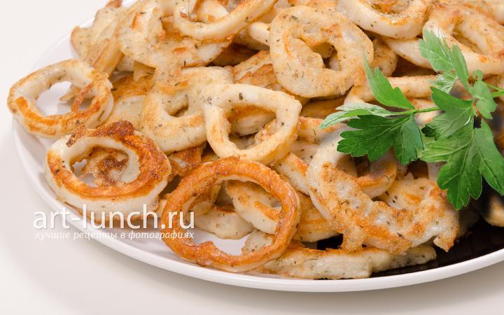 Кольца кальмара - рецепт с фото