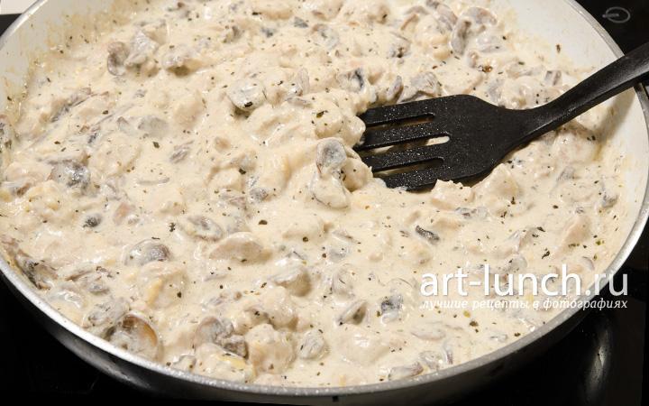 соус с грибами и сливками рецепт