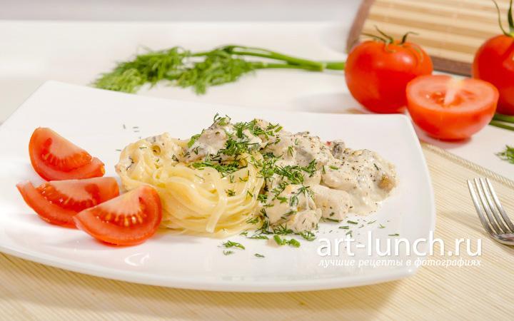 Куриное филе с грибами - пошаговый рецепт с фото
