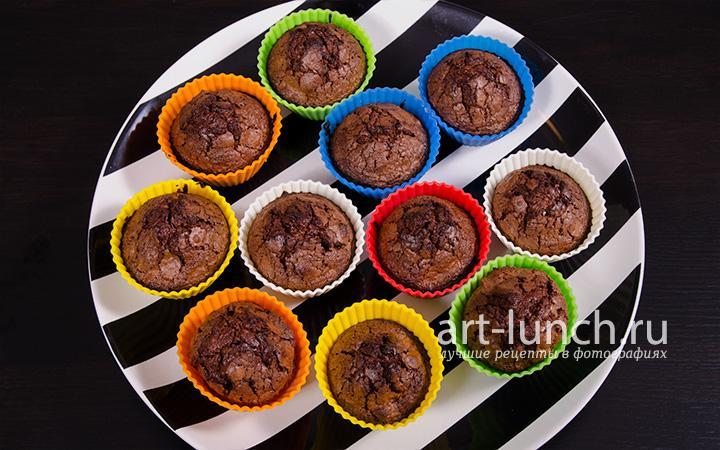 Шоколадные маффины  - пошаговый рецепт с фото
