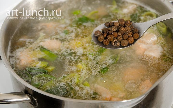 суп с фрикадельками со сливками пошаговый рецепт с фото