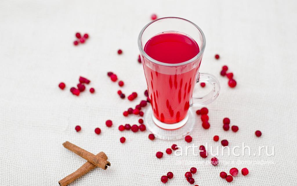 Брусничный напиток - пошаговый рецепт с фото