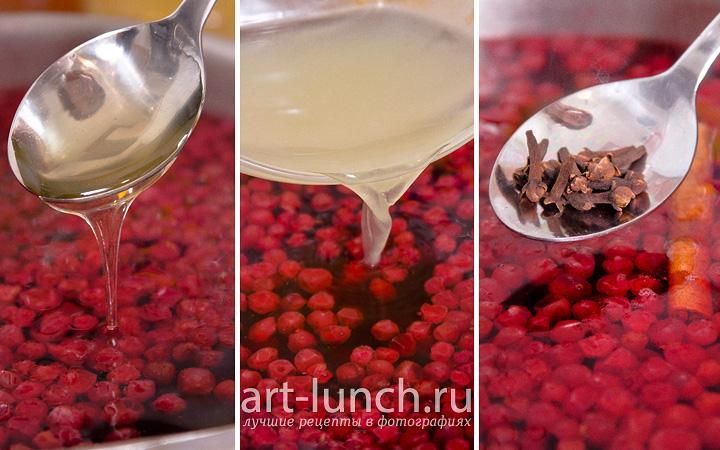 Компот из брусники пошаговый рецепт с фото
