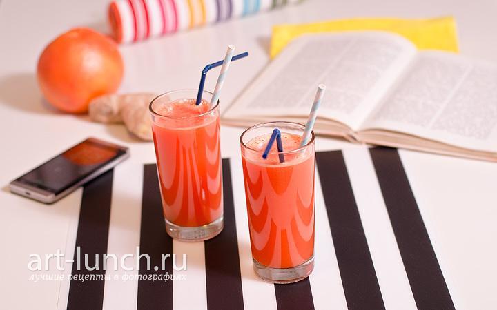 Морковно-грейпфрутовый фреш с имбирём