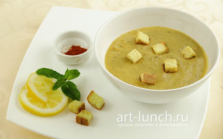 Суп пюре из чечевицы зеленой