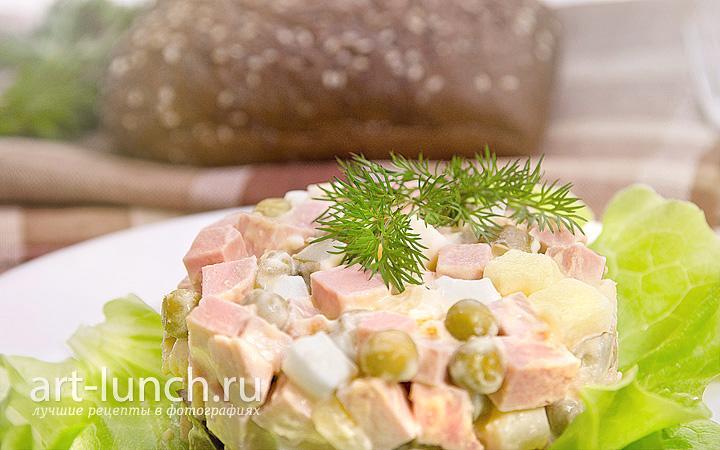простой оливье салат рецепт с фото пошагово