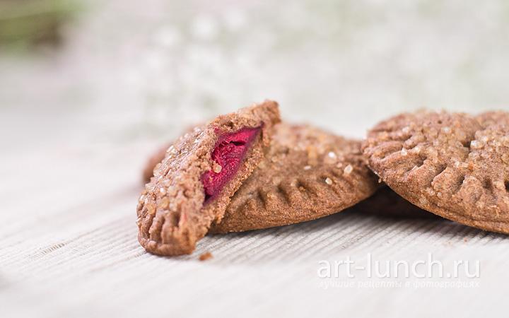 Шоколадное печенье с вишней - пошаговый рецепт с фото