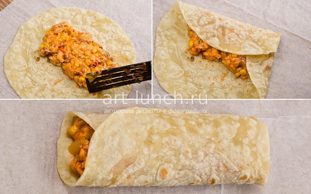 Буррито - пошаговый рецепт с фото