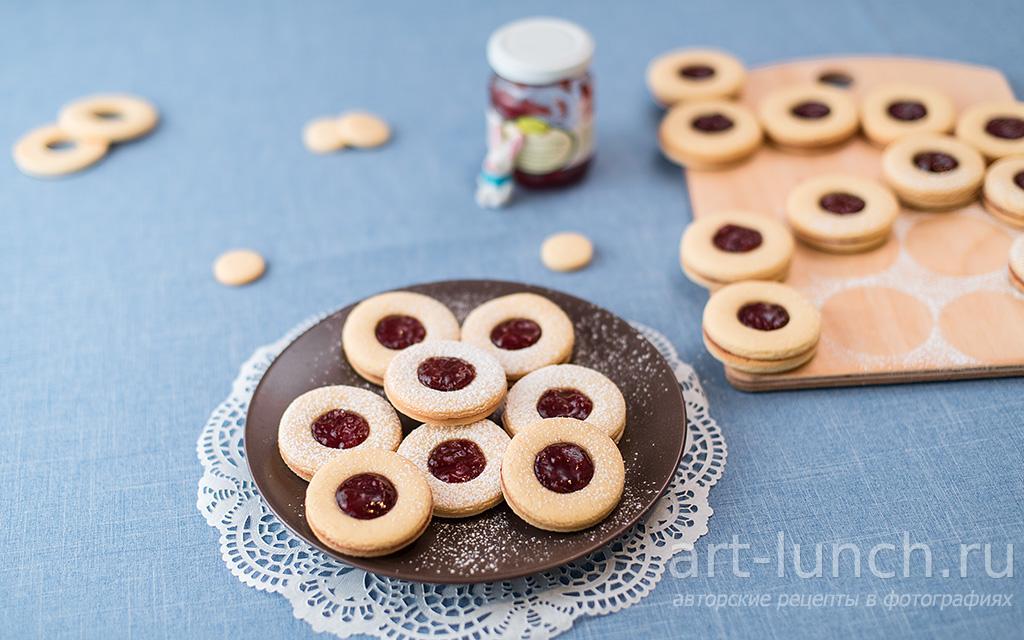Печенье с джемом - пошаговый рецепт с фото