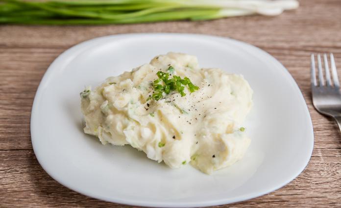 Картофельное пюре со сливками и брынзой
