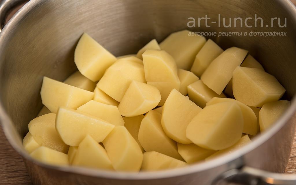 Картофельное пюре с брынзой - пошаговый рецепт с фото
