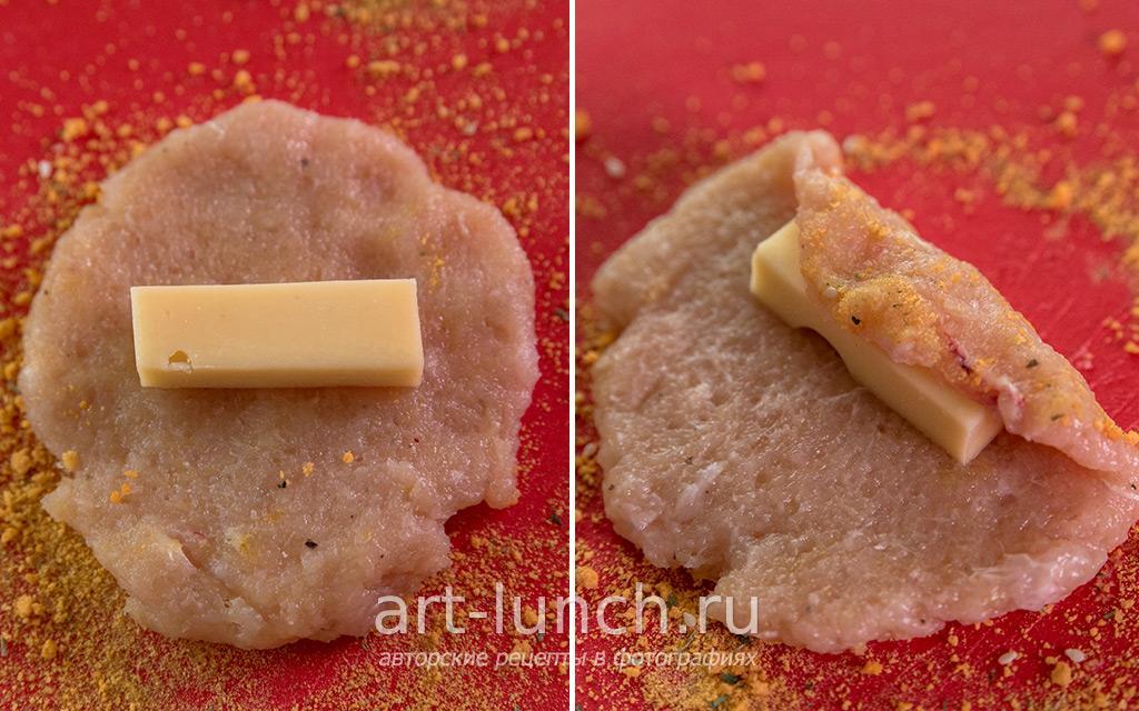 рецепт куриных котлет из фарша с сыром пошаговым