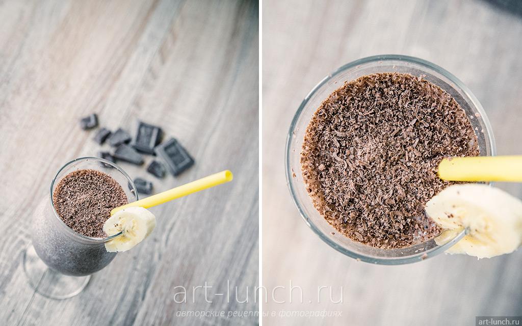 Бананово-шоколадный коктейль - пошаговый рецепт с фото
