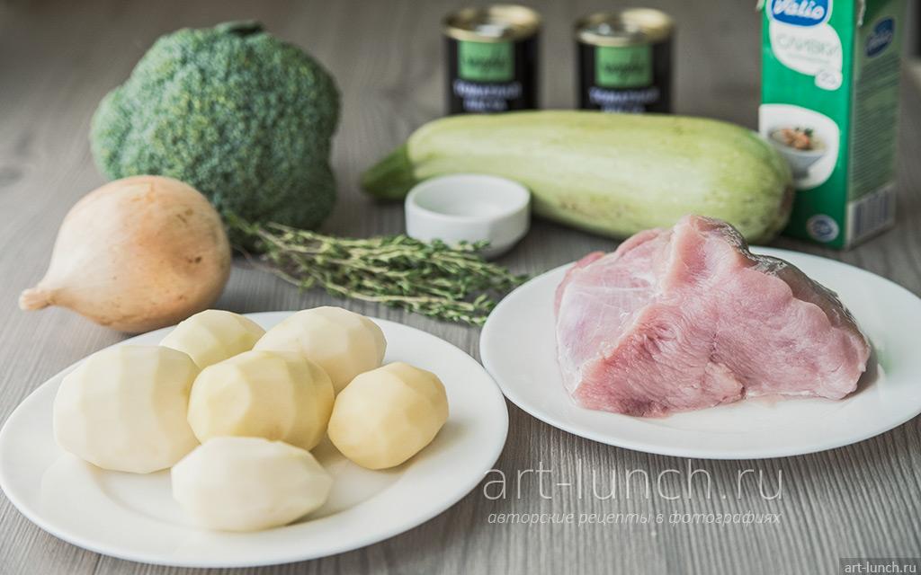 овощи с индейкой, запечённые в сливочно-томатном соусе пошаговый рецепт с фото