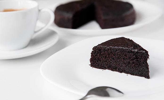 Очень чёрный шоколадный бисквит