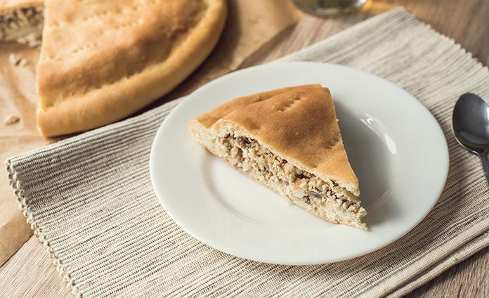 Пирог курник (пирог с курицей и грибами)