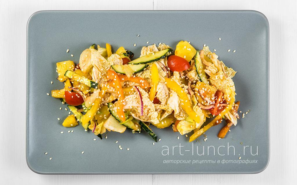 Картофельный салат с овощами